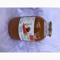 Сік яблучно-морквяний з м#039;якоттю з цукром стерилізований 3л