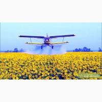 Опрыскивание посевов агро самолетами Ан-2 и вертолётами