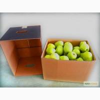 Гофролоток для яблок бурого и белого цвета