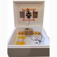 Автоматический инкубатор Теплуша 63 с ТЭНом, влагомером, цифровым терморегул. и 12 Вольт
