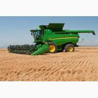 Услуги по уборке зерновых и олийных культур комбайнами John Deere 9650 STS