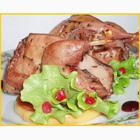 Мясо маринованных перепелов