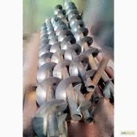 Спираль шнековая (шнек) сварная для винтовых конвейеров. В наличии