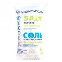 Соль таблетированная в полипропиленовом мешке (25кг) Мозырь