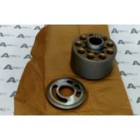 Качающий блок цилиндров + рапределительная плита R Kawasaki K3V112 Handok 05289