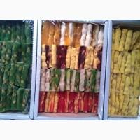 Рахат-лукум палочки ореховые 1 кг.- 65 гр. в ассортименте от производителя Оптом.В розницу