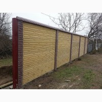 Глянцевые бетонные еврозаборы Гранилит с установкой под ключ в Запорожье и обл