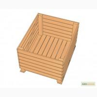 Евро контейнер деревянный для яблок тип Ф2-6-Б-100