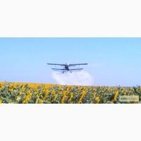 Опрыскивание подсолнечника авиацией