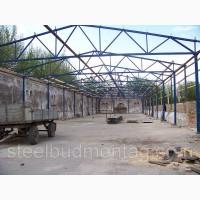 Будівництво зерносховища 15*80*5. Монтаж металоконструкцій