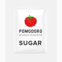 Порционный сахар в саше с логотипом Клиента, брендированный фасованный сахар