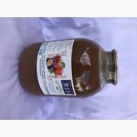 Сік яблуно-сливовий з м#039;якоттю з цукром стерилізований 3л