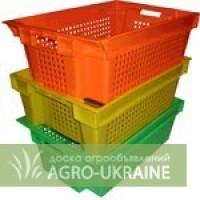 Ящики полиэтиленовые 600-400-200 для овощей фруктов объем 33 литра