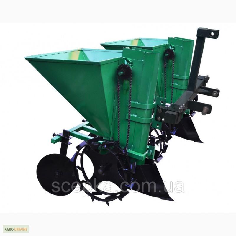 Картофелесажалка для минитрактора двухрядная фермер ру