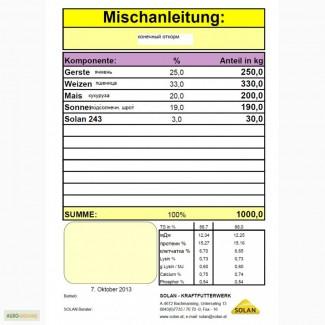 Премікс 3% для свиней на откорме Cолан 243, Австрия 30 грн/ кг