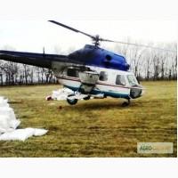 Подкормка озимого рапса и озимой пшеницы - услуги вертолета