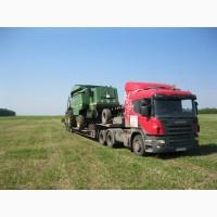 Услуги по перевозке сельхозтехники, спецтехники, негабаритных грузов. Низкорамный трал 40т