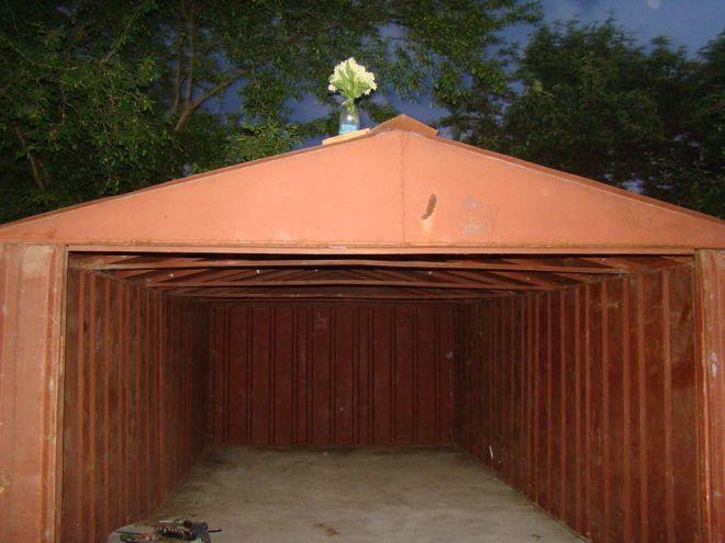 Разборный гараж размеры фото