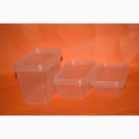 Пластиковый пищевой контейнер прямоугольный с крышкой 500 мл
