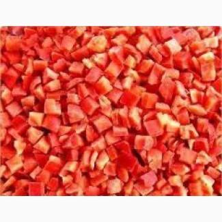 Перец красный кубик 10/10 шоковой заморозки