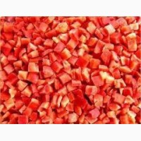 Перец красный кубик замороженный