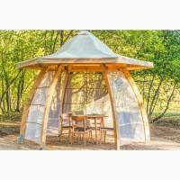 Компактная уютная новая Беседка для отдыха на свежем воздухе