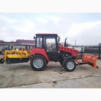Трактор коммунальный Беларус 320.4 с отвалом и щёткой