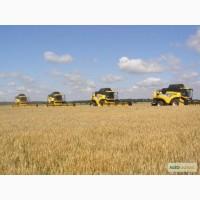 Уборка урожая комбайнами по Украине