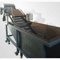 Линия переработки ягоды, конвейер инспекционный мойка барботажная, транспорет гусак