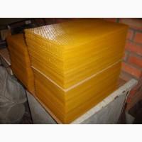 Вощина для пчел на рамку 300, 230 и 145
