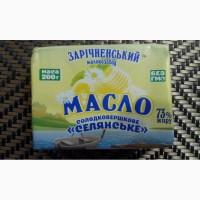 Масло сливочное Зарічненське Селянське Эталон 73, 0%