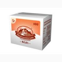 Спред сладкосливочный Попельнянский 82, 0% брикет 10/20 кг