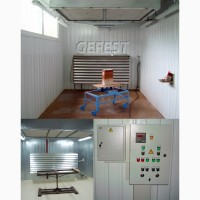 Мобильные промышленные окрасочно-сушильные камеры GEFEST PDC для окраски изделий из дерева