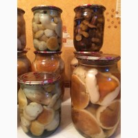 Продам грибы белые маринованные 1л и 0, 5л