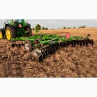 Услуги вспашки дискования глубокорыхления оранка земли почвы полей Черкассы