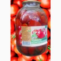 Консервированные помидоры, консервовані помідори 3л