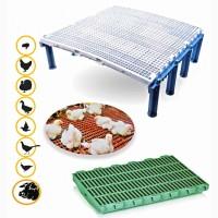 Пластиковые решетчатые полы для птицы: бройлеров, индюков, гусей, уток