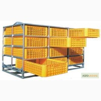 Сплошные (монолитные) ящики для перевозки птицы