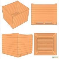 Евро контейнер деревянный для чеснока (чесночный ящик) 1200х1200х1000мм
