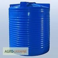 Бак, бочка для воды (дизельное топ.) пластиковая вертикальная 5т(10т)