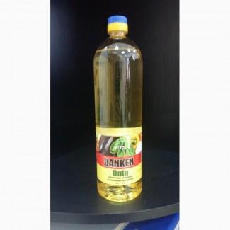 Рафинированное подсолнечное масло в 1 литровой ПЭТ бутылке