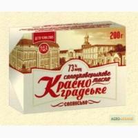 Продам сливочное масло ТМ Красноградское 73%, 200гр, 5кг, 10кг