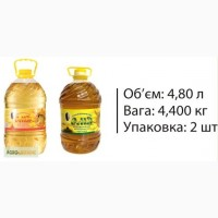 Олія соняшникова рафінована 4, 8л/4400г від виробника