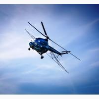 Інсектицидний захист сої від гусениці чортополохівки вертольотом