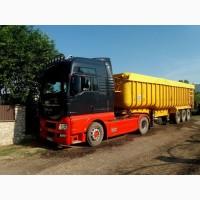 Послуги по перевезенню сипучих вантажів самосвалом - зерновозом
