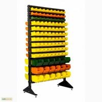 Cтенды с пластиковыми ящиками. Ящики для метизов