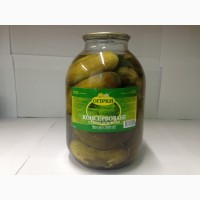 Огурцы консервированные, с/б, 3л