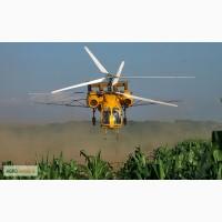 Химобработка кукурузы инсектицидом Кораген вертолетами