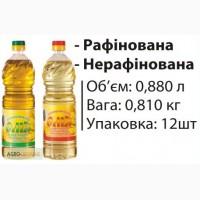 Олія соняшникова рафінована 880мл/810г від виробника