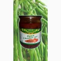 Фасоль в томатному соусі, фасоль в томатном соусе